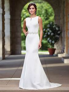 satin fit flare wedding dress 117188 enchanting by mon With satin fit and flare wedding dress