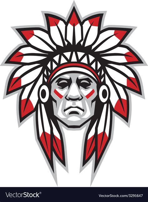 Indian Chief Image by Indian Chief Royalty Free Vector Image Vectorstock