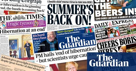 'End of hibernation': what the papers say about England's ...