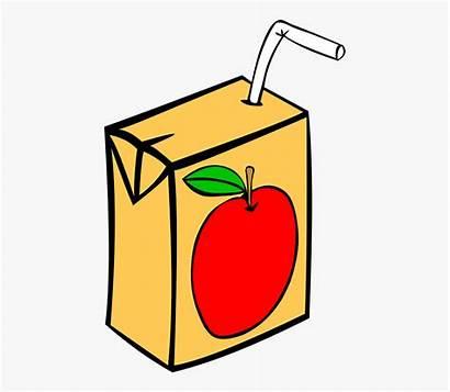 Clipart Juice Juicebox Tetra Apple Straw Pack