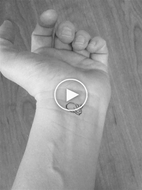 10 tatouages lapins miniatures temporaires / tatouages