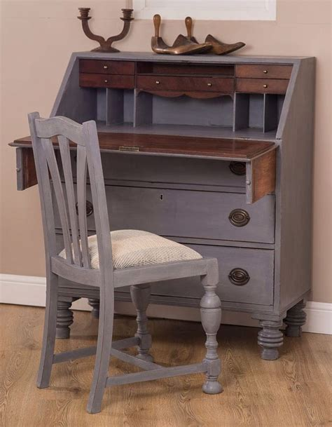bureau writing desk vintage shabby chic writing bureau desk painted in