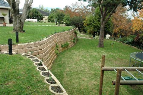retaining wall on steep slope a steep garden transformed with retaining wall blocks fresh air pinterest gardens garden