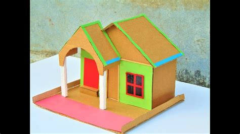 diy cardboard house model    small cardboard
