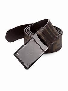 Fendi Zucca Reversible Belt in Brown for Men | Lyst