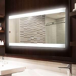 Spiegel Mit Integrierter Beleuchtung : krollmann badspiegel led spiegel mit beleuchtung durch satinierte lichtfl chen 80 x 40 cm ~ Markanthonyermac.com Haus und Dekorationen