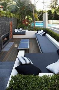 les 25 meilleures idees de la categorie espaces confines With exceptional photo amenagement terrasse exterieur 10 cuisine verte pas cher