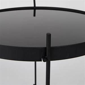 Table Basse Noire Ronde : table basse design ronde cuivre m tal zuiver cupid small ~ Teatrodelosmanantiales.com Idées de Décoration