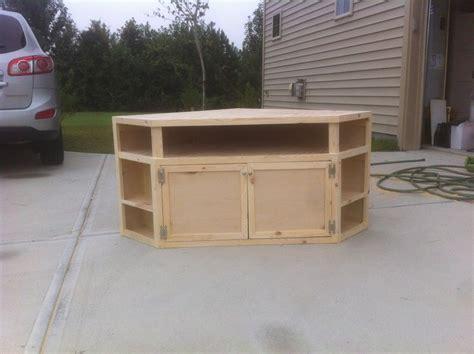 build   diy corner tv stand diy tv stand