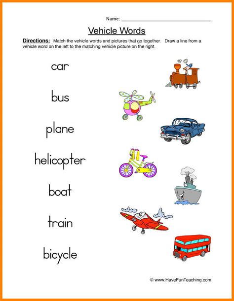 13 Transportation Worksheets Arseloquentiae