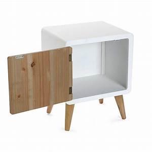 table de chevet scandinave bois et bois blanc versa With table de chevet bois blanc