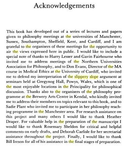 guidelines  writing acknowledgement sample