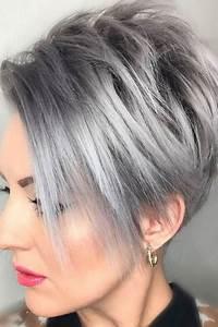 Coupe Cheveux Gris Femme 60 Ans : coupes courtes femmes 60 ans 2018 ~ Voncanada.com Idées de Décoration