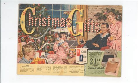 Christmas Gifts Western Auto Catalog Vintage 1960