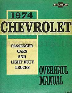 1974 Chevy Nova Factory Assembly Manual Reprint