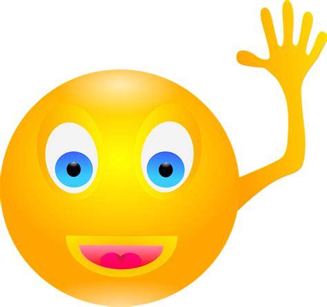 kostenlose vektorgrafik smiley winken lachen gluecklich