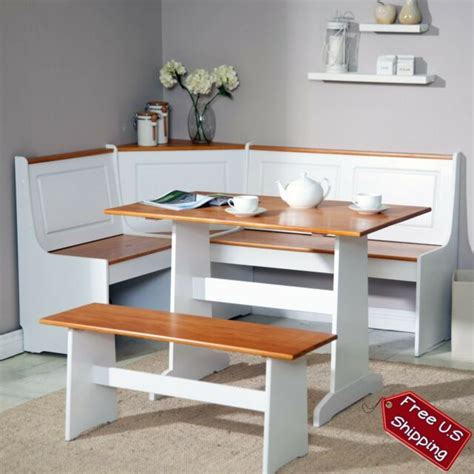 corner nook dining set bench breakfast kitchen booth