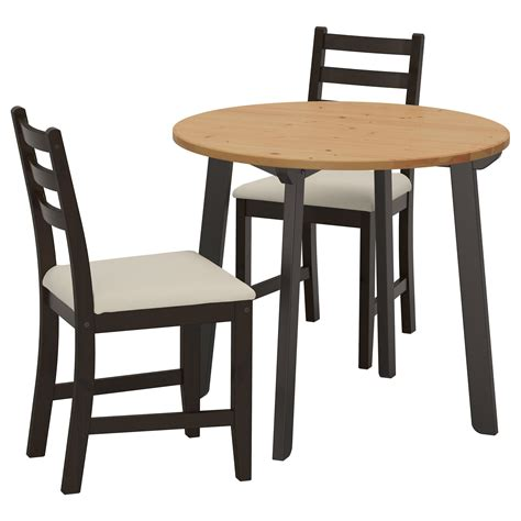 ikea tables cuisine lerhamn gamlared table and 2 chairs light antique stain