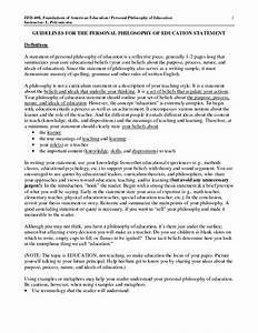 Elementary Teaching Philosophy Examples  U2026