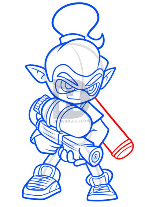 How To Draw An Inkling Splatoon How To Draw