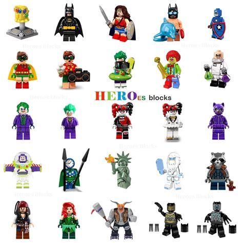super heroes building blocks joker batman  robin