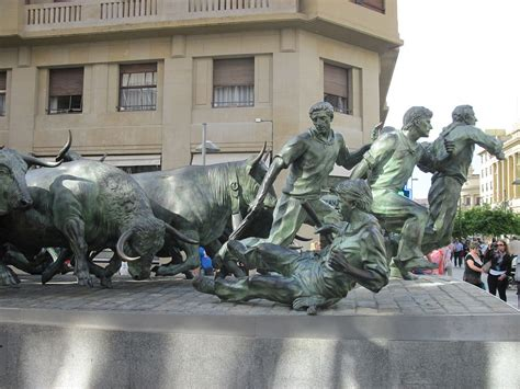 303 Saint Fermin And Running With The Bulls In Pamplona