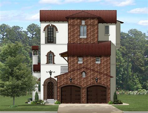 story tuscan abode ka architectural designs house plans