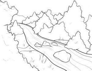 Super Mudah Menggambar Pemandangan Sungai Menggambar Unik