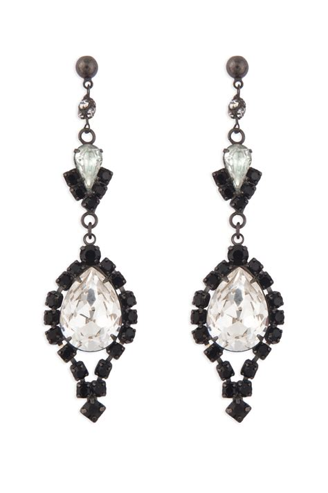 black and chandelier earrings by tom binns for 30