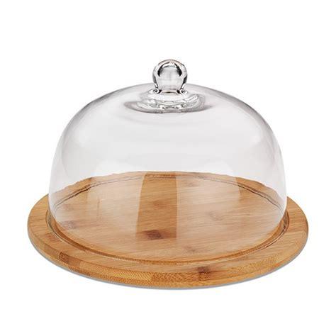 cloche de cuisine cloche à fromage en verre et plateau en bambou boîtes et