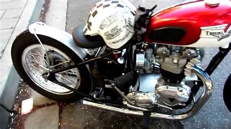 Rare Vintage Triumph Motorcycle