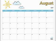 2019 Free Printable Calendar for Kids iMom