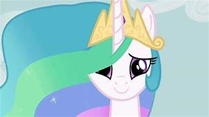 Behind the smiling pony faces: Princess Celestia ...