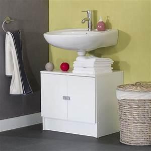 Meuble Sous Lavabo But : galet meuble sous lavabo 60cm blanc achat vente ~ Dode.kayakingforconservation.com Idées de Décoration