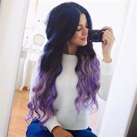 New Hair Purple Dip Dye Hermina♥ Bloglovin