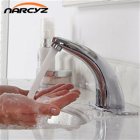 no water kitchen sink automatic inflared sensor faucet for bathroom sink water 7112