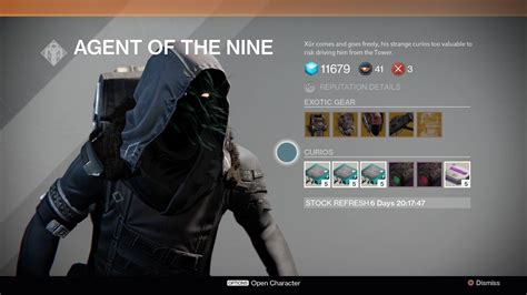 destiny xur location  inventory  oct    vg