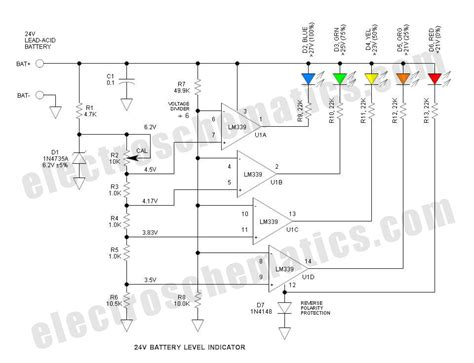 36v Battery Indicator Wiring Diagram by Battery Level Indicator For 24 Volts Batteries In