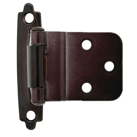 self closing cabinet hinges home depot liberty 3 8 in oil rubbed bronze self closing inset hinge
