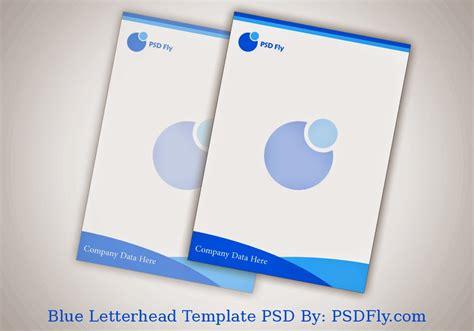 blue letterhead template psd psd fly   psd