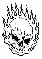 Skull Fire Drawing Coloring Pages Sugar Getdrawings sketch template