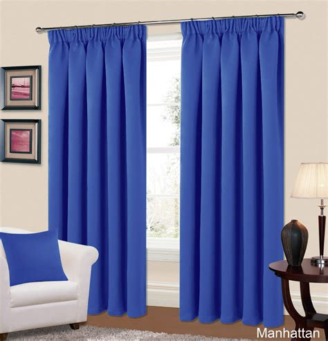 blackout bedroom curtains uk plain blue colour thermal blackout readymade bedroom