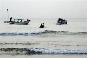 Asylum Boat Capsized by Asylum Tragedy Rescuers Approach The Capsized Boat In