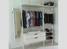 Ikea Stolmen open concept wardrobe system moving