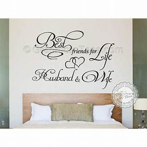 Best Friends For Life Husband and Wife Romantic Bedroom