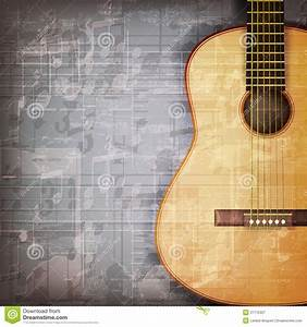 Abstract Grunge Piano Background With Acoustic Guitar ...