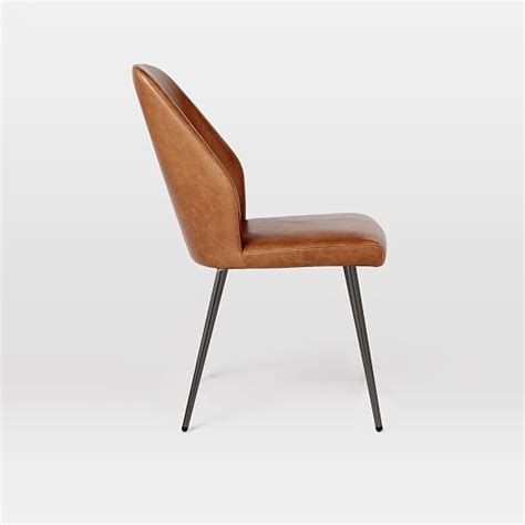 leather dining chair west elm