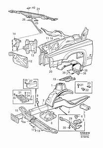 9126621 - Wheel Arch Liner  Body Frame  Section   Right  Front   Wheel Arch Liner
