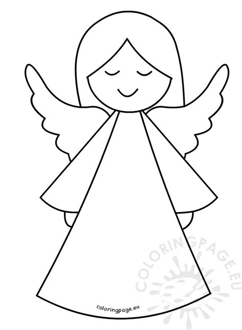 Cute Angel template – Coloring Page