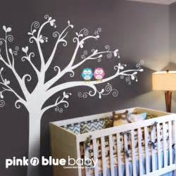 wall decals baby nursery decor owls lovely by pinknbluebaby